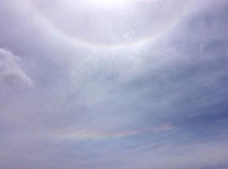 ハロ(日暈)と環水平アーク