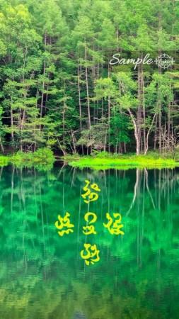 金運アップコズミックカリグラフィ 深い森